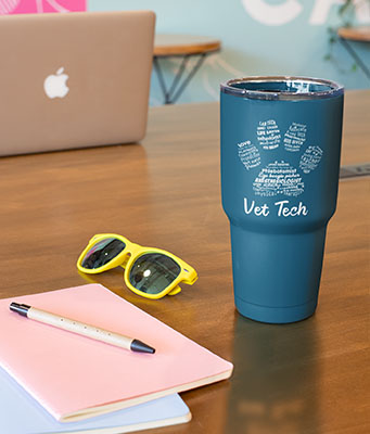 coffee tumbler gift for vet tech
