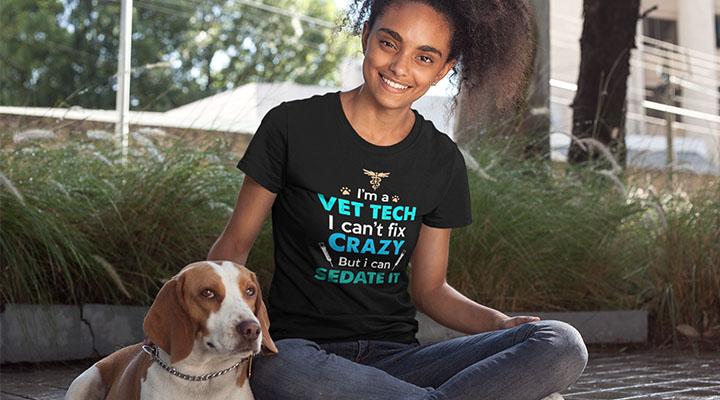 vet tech gift t-shirt